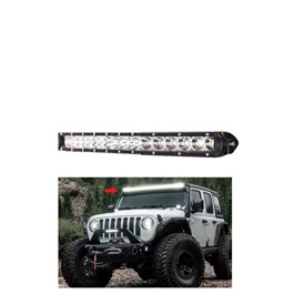 18 SMD Slim Style Roof LED Bar Light | High Accuracy Jeep Light | Sharp Light | Jeep Decoration Ligh