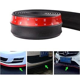 3M Adhesive Rubber Lip Protector   Black  | Rubber Bumper Lip Splitter Skirt Protector Strap | Car S