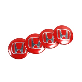 Honda Wheelcap Logos   Red | Wheel Center Cap | Wheel Logo | Wheel Center Hub Caps | Wheel Dust Proo