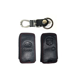 Toyota Prius Leather Key Cover 3 Button With Key Chain / Key Ring   Model 2016 2019