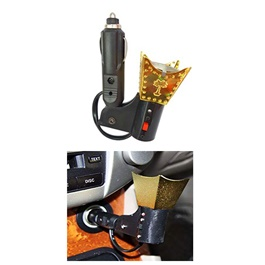 Car Electric Incense Burner Bakhoor Oil Wood Oud Oudh Air Freshner Burner