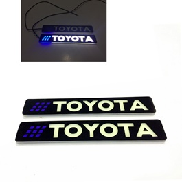 Flexible LED DRL With Toyota Logo – Pair | Daytime Running Lights | Car Styling Led Day Light