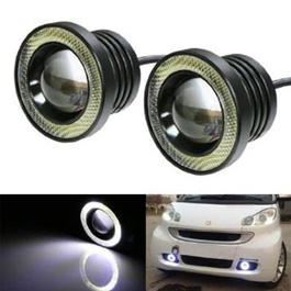 LED Fog Angel Eyes   Pair | Headlight Lenses | Projector Lenses For Headlights | Car Headlamp Lens R