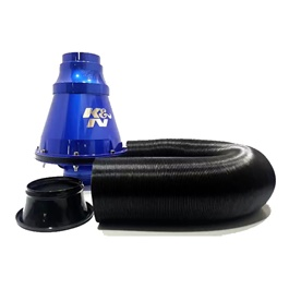 K&N Appolo Cold Air Intake Filter Branded   Blue