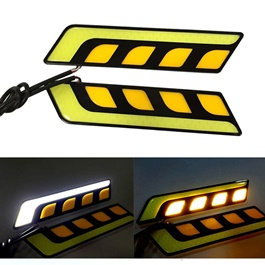 Dual Color Bumper Daylight | Daytime Running Lights | Car Styling Led Day Light | DRL Lamp