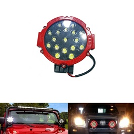 Round LED Spot Beam Pair For Jeep Safe Guard Small   Pair