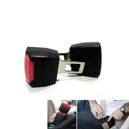 Double Buckle Seat Belt Clips Red & Black | Safety Belt Buckles Real Trucks Car Seat Safety Belt Ala