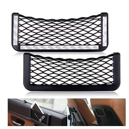 Car Net String Box Side Pocket Organizer Bags Baskets Mobile Phone Holder Small