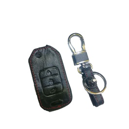 Honda Civic Leather Key Cover   Model 2014 2015   | Leather Car Key Remote Organizer | Remote Covers