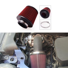 K&N Universal Cold Air Intake Filter   Red | Universal Car Air Filter Vehicle Induction High Power M