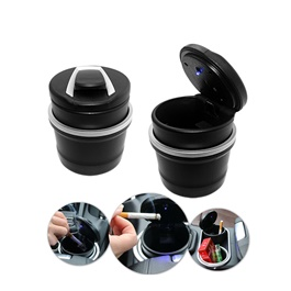 Mini BMW Portable Car Ashtray For Smokers With LED | Auto Cigarette Smoke Cup Holder Ash Tray For Ca