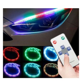 Universal Flexible Headlight / Head Lamp DRL RGB Color External