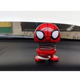 Bouncing Car Dashboard Smileys Emoji Emoticon Toy   Spider Man