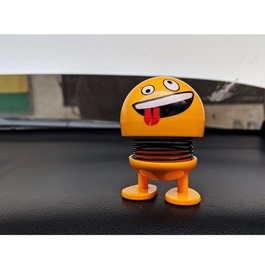 Bouncing Car Dashboard Smileys Emoji Emoticon Toy   Tounge Out