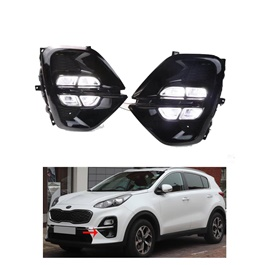 KIA Sportage Class LED Fog Lamps DRL Covers   Model 2019   2020