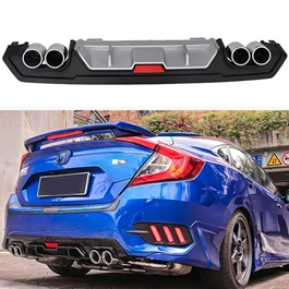 Honda Civic Kantara Style Dual Exhaust Diffuser  Model 2016 2020