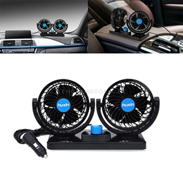 Rotatable Dual Speed Car Electric Fan | Car Double Fan For Dashboard | Universal Dual Fan 12v 2 Spee