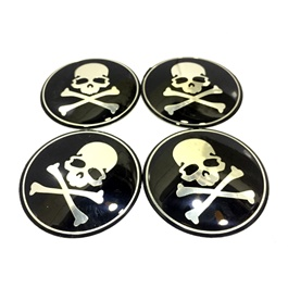 Skull Wheel Cap Logos   4 Pieces | Wheel Center Cap | Wheel Logo | Wheel Center Hub Caps | Wheel Dus
