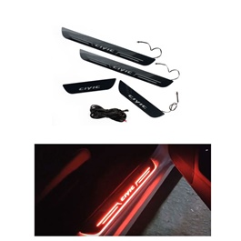 Honda Civic Sill Plates / Skuff LED Panels With LED Bar Red   Model 2016 2020